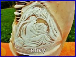 Lampe de Table Antique Veilleuse Sculpture Coquille Art Nouveau France Antique T