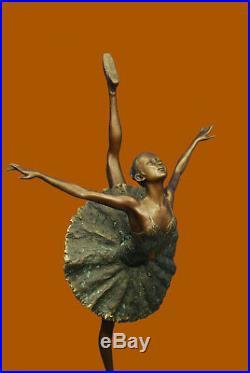 Large Prima Ballerine Bronze Sculpture Style Art Nouveau Deco Figurine uvre