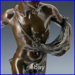 Le semeur J. B. Germaine Um 1900 Art Nouveau Bronze Sculpture Statue De
