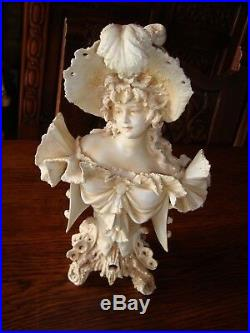 Magnifique Paire De Sculptures Porcelaine Art Nouveau-bohemia-austria-tepli Xix°