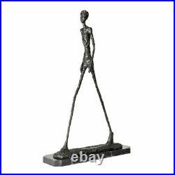 Marche homme Statue Bronze Giacometti abstrait squelette Sculpture Art