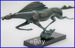 Massive Art Moderne Abstrait Élégant Cheval EDT Ltd Numérotée Bronze Sculpture