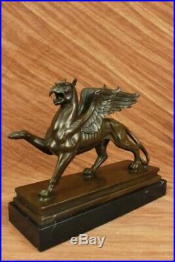 Merveilleux Art Nouveau Gothique Gargouille Bronze Sculpture Hot Fonte Figurine