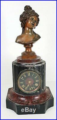 Montre Et Sculpture. Drouard. Paris Style Art Nouveau. Xix-xx Siècle