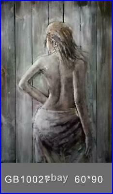 Mural Art Sculpture Vénus Déesse 3D Relief 61cmx91.4cm Encadré Peinture Nu uvre