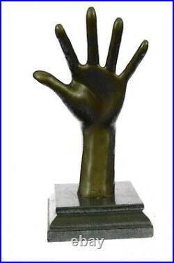 Nouveau Art Abstrait Bronze Main Avec Oreille Sculpture Lost Cire Méthode Art