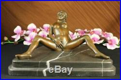 Nouveau Bronze Sculpture Nude Art Sex Statue, Femelle Sexuelle Érotique Qualité