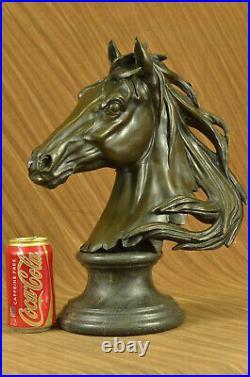 Original Milo Superbe Buste Cheval Tête Bronze Sculpture Art Déco Figurine Décor