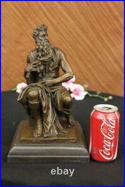 Ouest Art Déco Sculpture Juif Fondateur Prophet Moses Bronze Figurine Solde