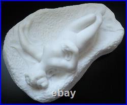P. BOUNY (XIX-XX) Sculpture en marbre de Carrare d'époque Art nouveau