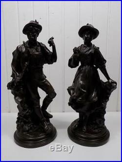 Paire Grand Art Nouveau Galvanoplastiken WMF Trachtenpaar Sculpture 20 Sameer