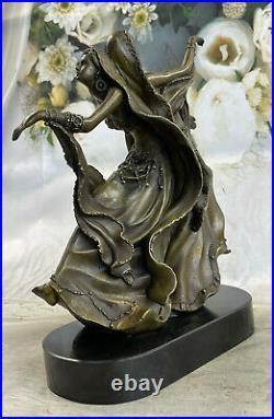 Perse Danseurs Bronze Sculpture Style Art Nouveau Marbre Figurine Deco Maison