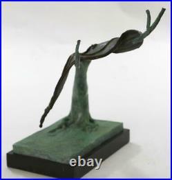 Persistance De Mémoire Par Salvador Dali Bronze Art Moderne Sculpture Figurine