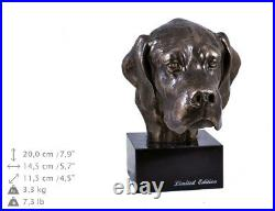 Pointer anglais, statue miniature / buste de chien, édition limitée, Art Dog FR