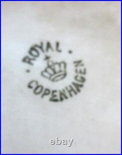 RARE Coupe vide-poche au crabe et sculpture Hareng, porcelaine Royal Copenhague