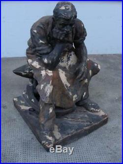 Rare Art Nouveau Friedrich Figure les Vienne Figurine Forgeron Sculpture Um 1895