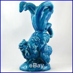 Rare COQ Vase Sculpture EDMOND LACHENAL Céramique Art Nouveau/deco, deck/buthaud