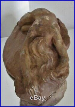 Rare sculpture Alfred FINOT pour Amalric WALTER Art Nouveau Lorelei