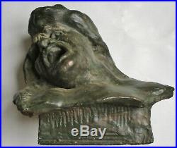 Rare sculpture statue Alfred FINOT 1909 Expressionniste curiosité Era Bourdelle