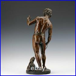 Rares L. Bureau Bronze Sculpture le Dompteur de Lion 1860-1890 Art Nouveau