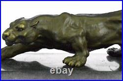 Rembrandt Bugatti Art Déco Léopards Bronze Sculpture Cubism Panthers Statue