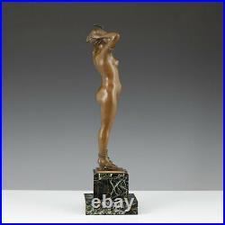 Salon Sculpture Nubien Bronze Féminin Nu Erotica Art Nouveau Statuette
