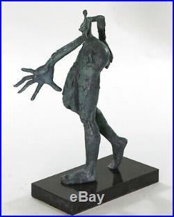Salvador Dali Abstrait Art Moderne Maison Bronze Sculpture Main Figurine Fonte