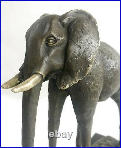 Salvador Dali Éléphant Avec de Long Jambes Bronze Sculpture Art Déco Figurine