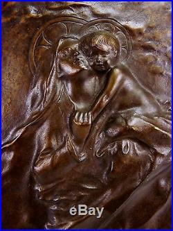 Salvatore De Simone (1867-) Sainte vierge et enfant Jésus Italie art nouveau