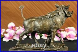 Sanglier Sauvage Cochons Pure Bronze Sculpture Statue Art Décor Ferme Cabine Nr