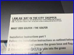 Sculpture Allemande En Résine The golfer De Bernhard Prinz art And The City