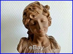 Sculpture Art Nouveau terre cuite Bohémienne par Le Guluche buste 21554