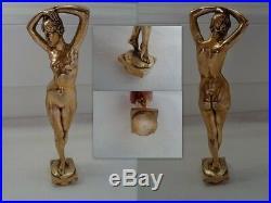 Sculpture Bronze Danseuse Nue Signe L. Delapachier