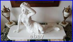 Sculpture En Plâtre Signée CF Paris Numérotée 741 Art Nouveau BE
