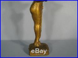 Sculpture Femme Art Nouveau / Statue Ancienne Femme Signée Yojama Epoque 1900