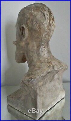 Sculpture HOMME Art Nouveau épreuve d'artiste Alfred Finot à l'ami E. Corbin