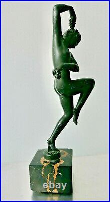 Sculpture Max Le Verrier, Vendanges signé Denis ART DECO 1930