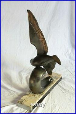 Sculpture Mouette signée M. LEDUC Art Nouveau / Art Déco
