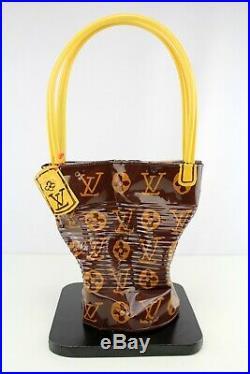 Sculpture Norman Gekko Big Crushed Louis Vuitton Handbag oeuvre d'art sac a main