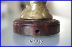 Sculpture Statuette en bronze Lampe Art Nouveau Signée H Fugere