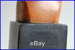 Sculpture bois Hans HUGGLER-WYSS Brienz Suisse (41592)