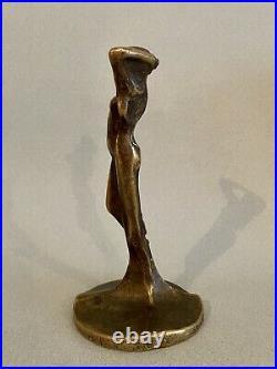 Sculpture bronze femme Art Nouveau Deco jugendstil 1900 signé à identifier