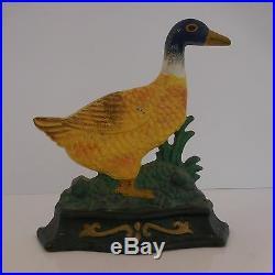 Sculpture canard en fonte XIXe art nouveau