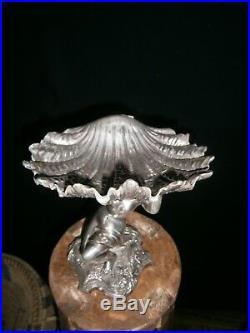 Sculpture de Victor Saglier en métal argenté