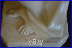 Sculpture en albâtre signée Dante Zoi époque Art nouveau