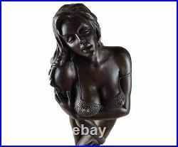 Sculpture en bronze statue érotique femme nue fille art érotique style antique H