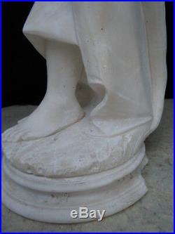 Sculpture femme aux pavots Adolpho Cipriani d'époque art nouveau vers 1920