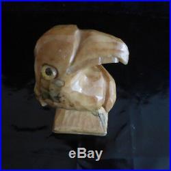 Sculpture oiseau perroquet marbre Design XXe Art Nouveau Déco PN France N3139