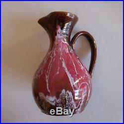 Sculpture pichet vase céramique faïence Vallauris fait main art déco France N9