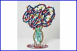 Sculpture pop art Bouquet bleu en métal peint à la main par DAVID GERSTEIN